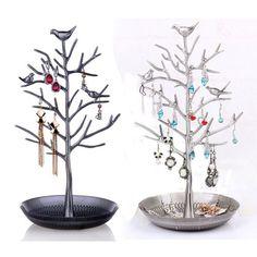 Jewelry Necklace Ring Earrings Tree Metal Rack Stand Display Organizer Holder #UnbrandedGeneric