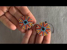 Seed Bead Jewelry, Bead Jewellery, Seed Bead Earrings, Diy Earrings, Hoop Earrings, Wire Jewelry, Handmade Jewelry, Beaded Earrings Patterns, Beading Patterns