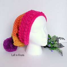 Brighten up your day with this beautiful and simple fall slouchy hat!