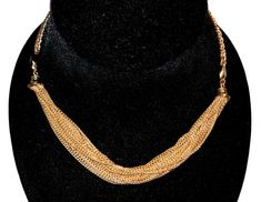 Vintage SARAH COVENTRY gathered multiple chain choker necklace.