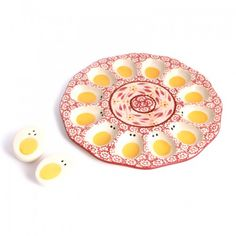 temp-tations® by Tara: temp-tations® Old World 10-inch Egg Platter with Salt & Pepper Shakers