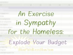 Do you know what it's like to live paycheck to paycheck? Or worse, none check to homeless? It is happening to good people, smart people, hard workers, nice families… To have sympathy for someone in that situation it simply takes … Continue reading → Smart People, Good People, Homeless Care Package, Simple Living Blog, Love Does Not Envy, Squat Workout, Hard Workers, Workout For Beginners, What You Can Do