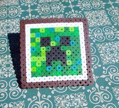 Perler Bead Minecraft Creeper Coaster