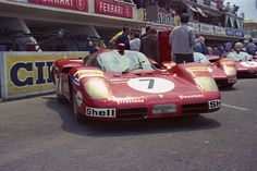 The SpA Ferrari SEFAC #7 Ferrari 512S of Derek Bell & Ronnie Peterson at the 1970 24 Hours of Le Mans.