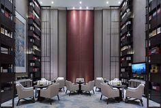 海珀黄浦   黄全 集艾设计 Luxury Interior, Interior Design, Public Hotel, Public Space Design, Hotel Lounge, Concrete Houses, Dining Room Inspiration, Hotel Interiors, Architect House