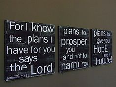 A Good Plan  Set of 3 three CAFE MOUNT 12x12 by redletterwords, $165.00