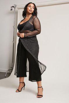 FOREVER 21+ Plus Size Longline Metallic Cardigan #plussize #fashionaddict #trends #fashion #trendsetter aff