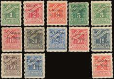 """1916 """"Ι. Ορους"""" overprint on postage due stamps, complete set of 13 values, u/m. and with trace of hinge). Euro, Auction, Quilts, Stamps, Public, Live, Seals, Quilt Sets, Log Cabin Quilts"""