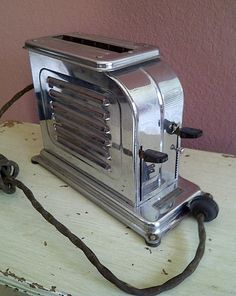 Antique 1920s TOASTMASTER sincle slice toaster by maggiecastillo, $350.00 - I have one like this!