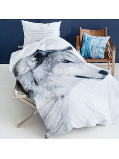 By Nord Wolf Bed Single Duvet Cover www. Single Duvet Cover, Scandinavian Interior Design, Bed Sets, Interior Exterior, Interior Design Inspiration, Interiores Design, My Room, Spare Room, Luxury Bedding