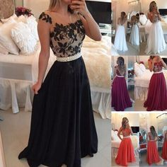 2016 Burgundy Black White Water Melon Prom Dresses Fiesta Sheer Crew Neck Lace Appliques Pearls Belt Chiffon Long A Line Evening Gowns Knee Length Prom Dresses Long Dress Online From Allanhu, $137.18| Dhgate.Com