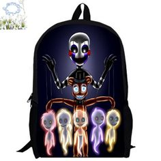 16Inch Five Nights At Freddy Backpack Customized Mochila Children Boy Girl School Bag Teenage Gift Free Shipping A037