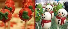 Christmas Themed Wedding Cake Pops