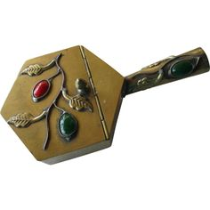 Vintage Brass Silent Butler/3 Stones from silvermoonjewelryandmore on Ruby Lane