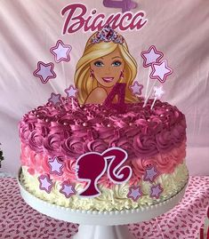 Bug Birthday Cakes, Disney Princess Birthday Cakes, Barbie Birthday Cake, Elsa Birthday, Birthday Parties, 5th Birthday, Bolo Barbie, Barbie Cake, Barbie Theme Party
