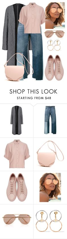 """A girl in love."" by schenonek ❤ liked on Polyvore featuring Haider Ackermann, Valentino, Topshop, Common Projects, Quay and Charlotte Chesnais"