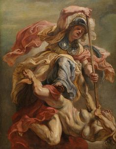 Peter Paul Rubens, Prudence (Minerva) Overthrowing Ignorance (or Sedition), c.1632-33