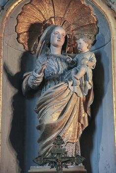 Beautiful Madonna and Child in  Saint Saviour's Basilica, Dinan