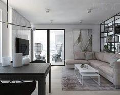 Aranżacje wnętrz - Kuchnia: W CIEMNO - Duża otwarta kuchnia w kształcie litery l z oknem, styl nowoczesny - UTOO- pracownia architektury wnętrz i krajobrazu. Przeglądaj, dodawaj i zapisuj najlepsze zdjęcia, pomysły i inspiracje designerskie. W bazie mamy już prawie milion fotografii! Oversized Mirror, Condo, Living Room, Interior, House, Furniture, Home Decor, Kitchen Ideas, Space