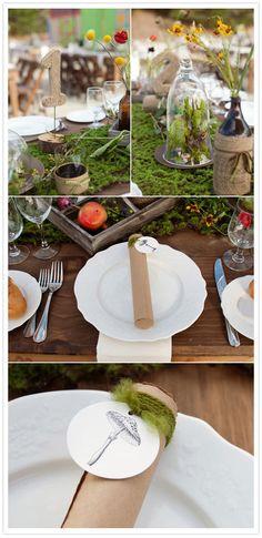 Alice in wonderland greenhouse wedding