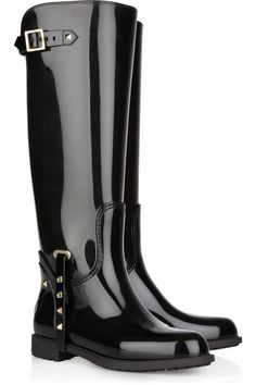 Valentino Studded rubber knee boots
