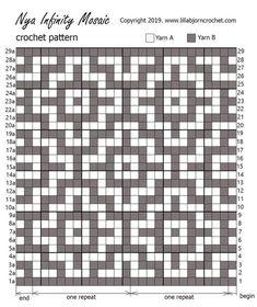 Knit crochet patterns blanket 18 ideas for 2019 Tapestry Crochet Patterns, Crochet Motifs, Weaving Patterns, Crochet Chart, Mosaic Patterns, Filet Crochet, Diy Crochet, Vintage Crochet, Crochet Stitches