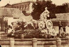 La cibeles en la plaza de Ventura Rodriguez, Madrid. 1853