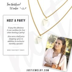 Being a hostess has its perks!  Book a party: http://bit.ly/1ObSkjE #justjewelry #jewelry #hostess #free #homeparty