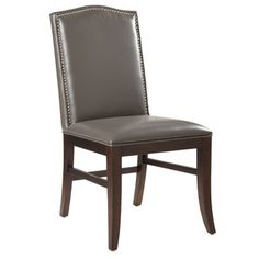 Sunpan Maison Grey Leather Dining Chair (Set of 2) - Overstock™ Shopping - Great Deals on Sunpan Dining Chairs