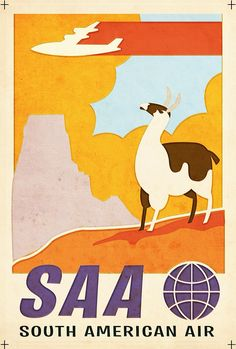 """Retro """"Up"""" travel poster from Pixar by artist Craig Foster."""