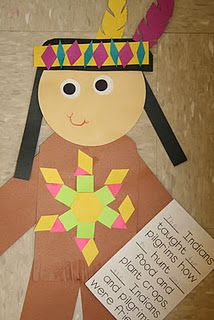 pattern indians, fill in the sight word description about pilgrims and indians!