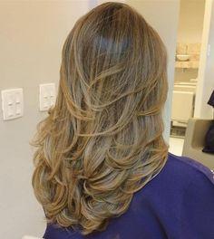 Long Layered Golden Blonde Hair