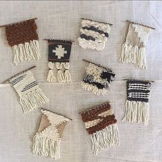 mini weavings, great for ornaments!: