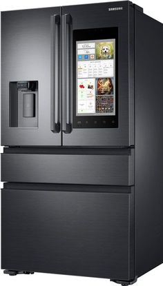Samsung Refrigerators, Samsung French Door Refrigerators on sale everyday at Plessers. Capacity Counter Depth French Door Refrigerator With Family Hub Interior View Simple Kitchen Remodel, Fridge Decor, Rose Gold Room Decor, Kitchen Cabnets, Black Kitchen Island, Home Office Design, Home Kitchens, Kitchen Remodel Design, Kitchen Design
