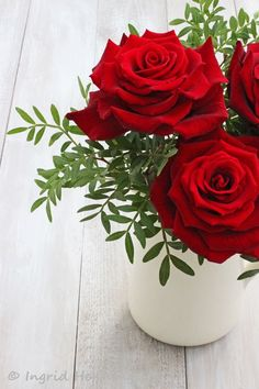 Red Roses-Valentine's Day-Ingrid Henningsson-Of Spring and Summer