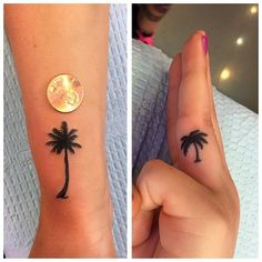 Little palm tree tattoos done by JENNY. | Yelp