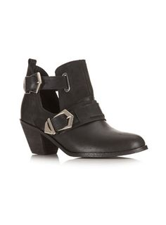 Avril Leather Cut Out Boot