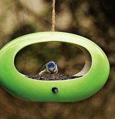 Mod Ceramic Oval Bird Feeder