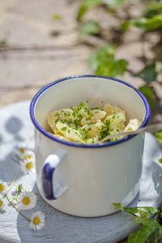 Potato Salad for One:  3 potatoes, tsp capers/anchovies/sundried tomatoes/olives.....and a dressing of mustard, cream, honey.........I'm craving this