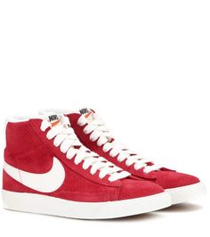 Nike Blazer Mid Vintage red and white suede high-top sneakers Red Suede  Shoes 7255935b5