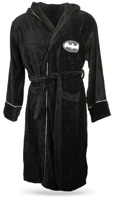 ThinkGeek :: DC Comics Bathrobes.  Do you think If I buy this it comes with Christian Bale?