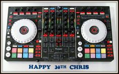 Another amazing cake by Melissa! Bring on the DJ! 30 Birthday Cake, Birthday Stuff, Birthday Ideas, Cakes By Melissa, Turntable Cake, Dj Cake, Happy 30th, Novelty Cakes, Halloween House