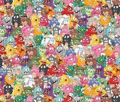 monsters all over fabric by id_designs on Spoonflower - custom fabric