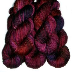 SW Merino DK/Light Worsted Yarn  Heartthrob 235 by JulieSpins, $24.00