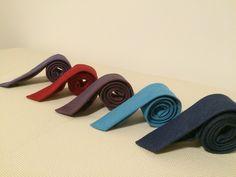 Denim slim ties for women and men. Made in Europe.