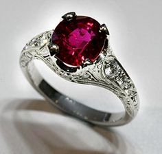 This band matches the ruby perfectly! It's so beautiful! I wish I could find more ruby rings this pretty.