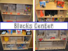 Blocks Center:  Building Builders using inviting materials and quality books in a preschool classroom.  Pocket of Preschool