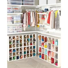 12-Pair Shoe Organizer from The Container Store costs $40 for each cubby of 12