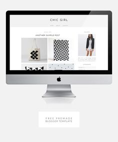 Chic Girl - Free premade blogger template. Only available until August 17, 2014. (Closed) Custom Web Design, Free Design, Free Blog Graphics, Template Site, Themes Free, Girl House, Blogger Templates, August 17, Business Ideas