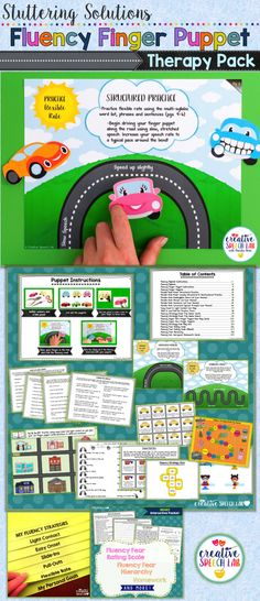 Children who stutter are highly motivated by the Fluency Flipbook, interactive finger puppets, games, fluency hierarchy, fun homework and MORE included in this exciting packet!